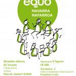 Reunión de verano: Plan de ciudad verde para Pamplona, 9 Agosto 18:30